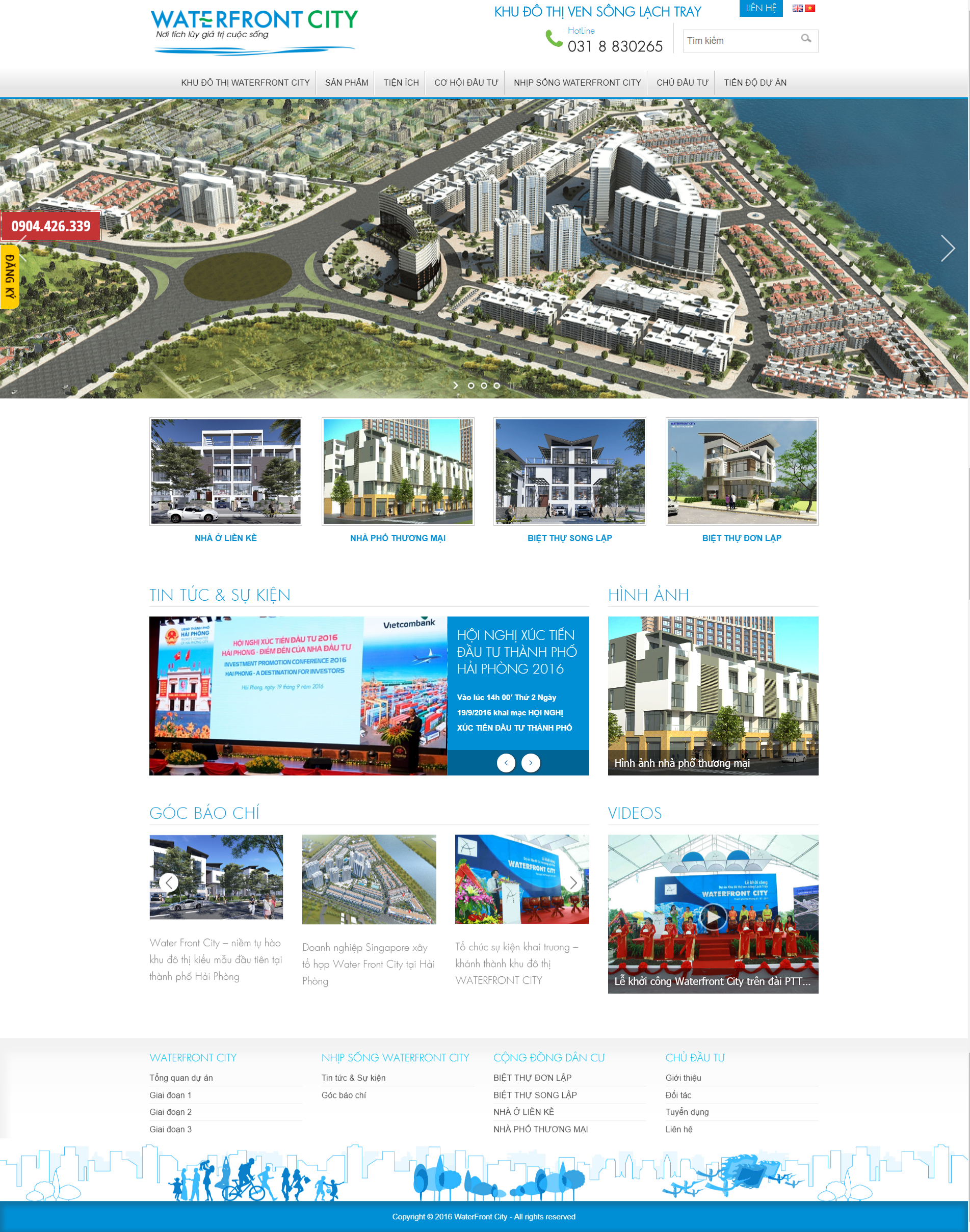 Web dự án Waterfront City